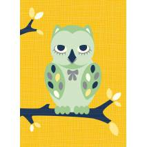 Carte postale Hibou Miss Honeybird