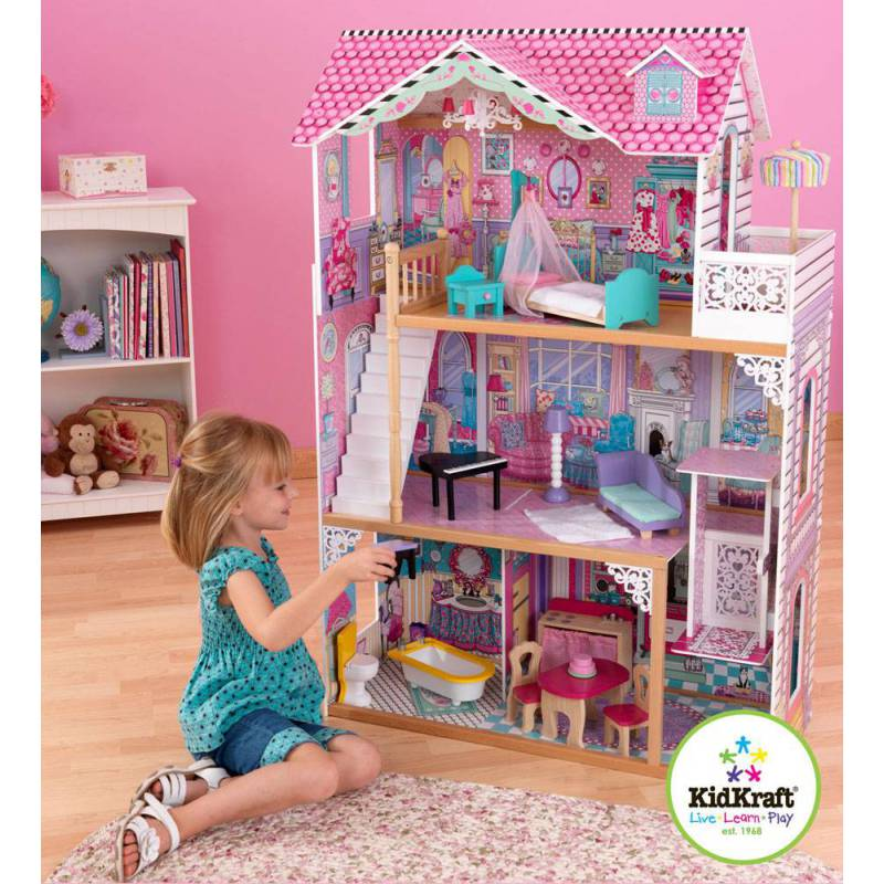 maison de poup es annabelle kidkraft i love my kids. Black Bedroom Furniture Sets. Home Design Ideas