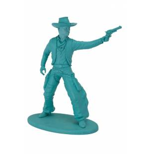 Statuette Cowboy turquoise