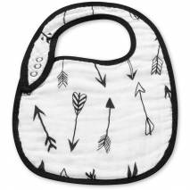 Organic cotton muslin bib - Arrows