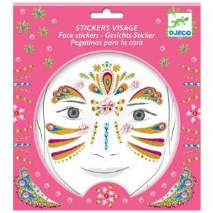 STICKERS VISAGE PRINCESSE OR