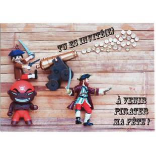 Cartes d'invitation Pirates My Little Day