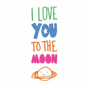 Tatouages I Love You To The Moon (by Mathilde Cabanas)