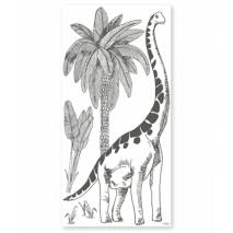 STICKER DECOR XL DINOSAURE ET PALMIER